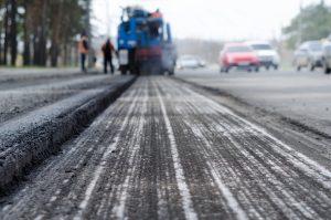 Arlington Asphalt Paving repairing a busy roadway in Arlington Virginia